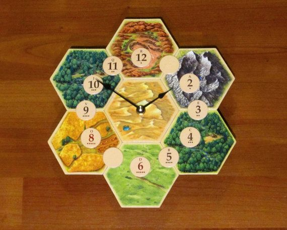 Settlers of Catan Board Game Clock by hmmSewCrafty on Etsy