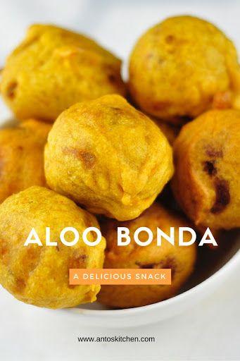 Aloo Bonda (batata vada) is a popular Indian Street Food & snack.