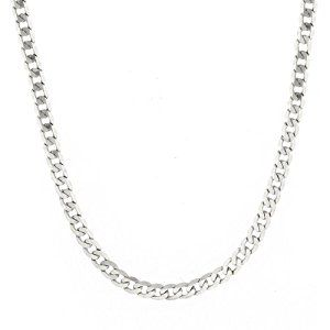 """Men's 14k White Gold 3.85mm Cuban Chain Necklace, 20""""  Product ViewSee larger image and other views (with zoom)Product ScreenshotsCheck All OffersAdd to Wish ListCustomer ReviewsFeaturesA polished solid 14k white gold 3.85mm, 20 inches Cuban chain with http://ecx.images-amazon.com/images/I/41PzGt2Gy5L._SL300_.jpg http://electmejewellery.com/jewelry/mens-jewelry/men39s-14k-white-gold-385mm-cuban-chain-necklace-20-com/"""