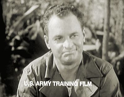 James Gregory in US Army training film-served 3 years in the Marine Corp.WW2