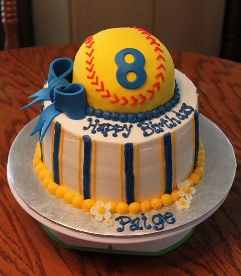 Softball Tier Birthday Cake