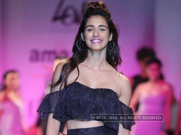 Disha Patani slays the ramp in a chic look - Times of India