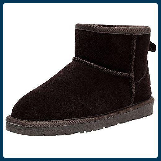 Jamron Damen Winter Warm Kunstpelz Gefüttert Stiefeletten Komfort Wildleder Schneestiefel Kaffee SN1054 EU36 - Stiefel für frauen (*Partner-Link)
