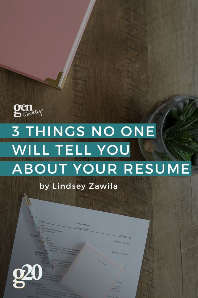 Three Things No One Tells You About Your Resume