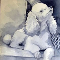 poodle toy painting - Buscar con Google