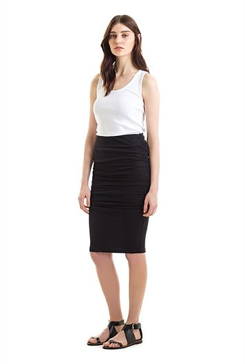 Fitted Tuck Skirt