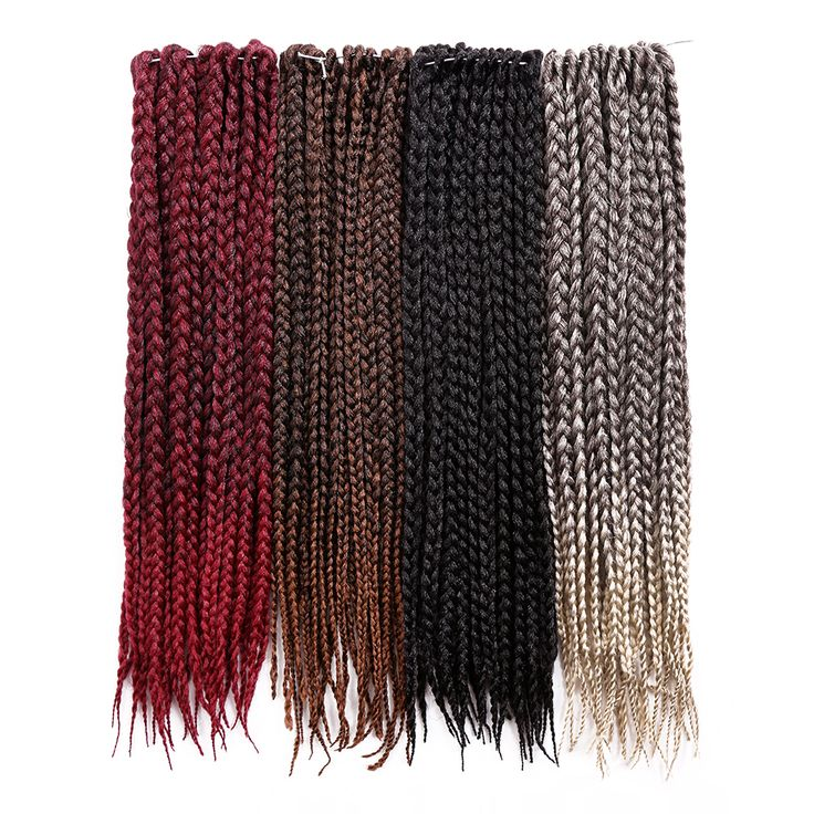 18inch Crochet Braids Twist Synthetic Hair Extensions Pre Braided Box Braids Hair 24(strands/pcs) Golden Beauty