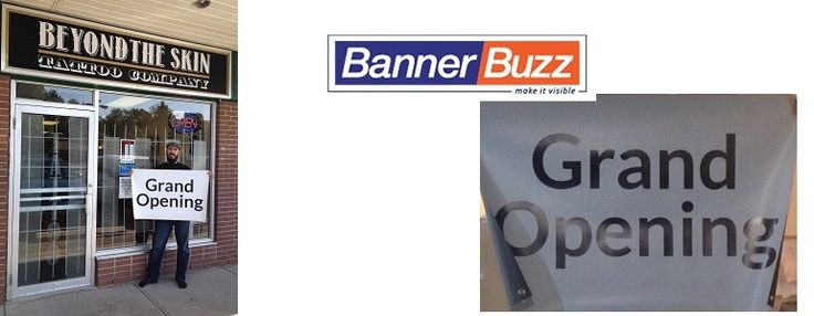 Grand Opening sign from BannerBuzz- blog review  BannerBuzz provide free product exchange for high quality cheap advertising vinyl banners and signs printing products only $6.99