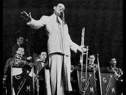 Glenn Miller - Moonlight Serenade. This was Miller's theme song. It was played at the opening and closing of his popular radio spot for Chesterfield Cigarettes.