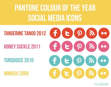 free set of 5 social media icons pantone-colour-of-the-year-icons