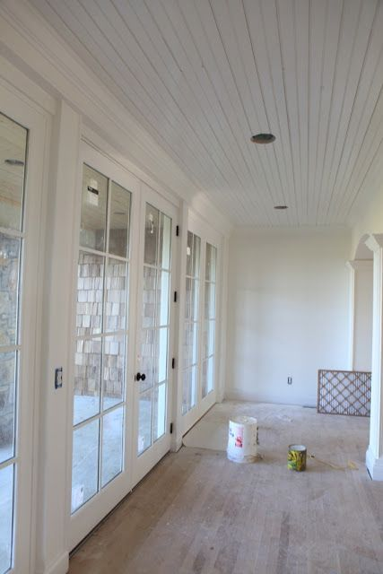 white dove walls and simply white trim and ceiling, Rattlebridge Farm: Paint Colors
