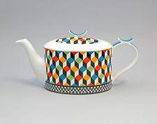 """52245 Porzellan moderne Tee-Kanne """"Farbwürfel"""" Jameson&Tailor"""