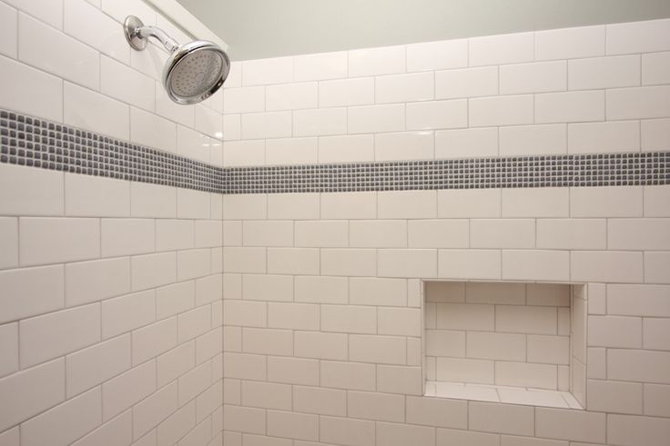 Subway Tile Bath Subway Tile With Mosaic Accent