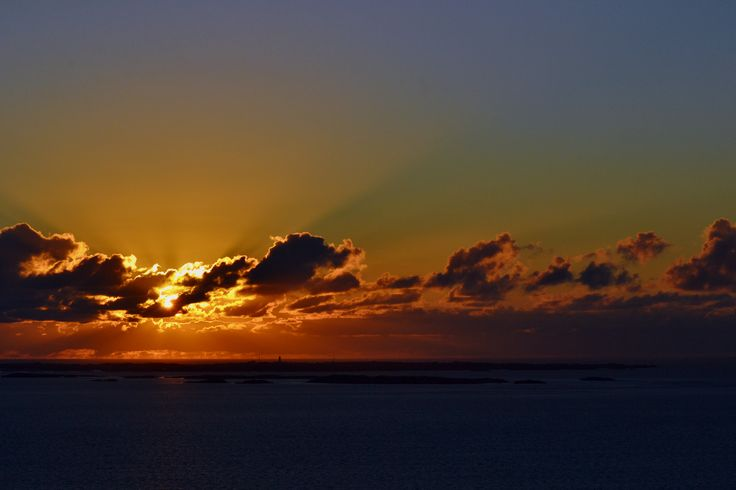 Sunset Norwegian fjords