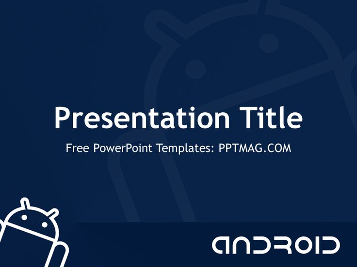 10 best powerpoint templates images on pinterest role models he free android powerpoint template has a blue background android logo and robot that make toneelgroepblik Images