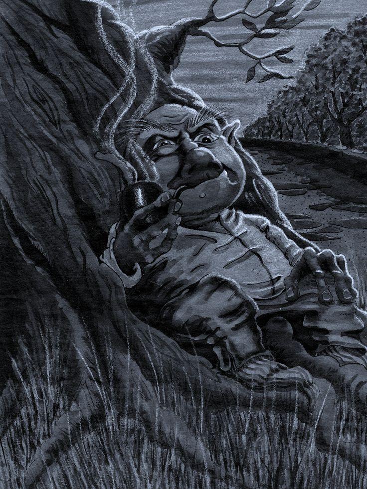 Duende fumador (tinta & lápiz)
