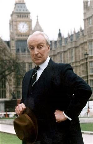 Scottish actor Ian Richardson as Francis Urquhart in House of Cards, BBC Trilogy