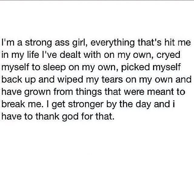 You Better Know It, its not a pity party simply recognising that I have been through alot and taken care of myself.