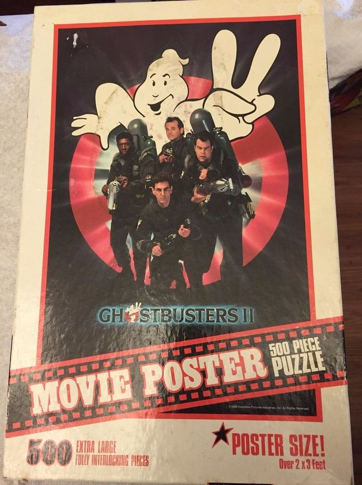 GHOSTBUSTERS II MOVIE POSTER SIZE VINTAGE HALLOWEEN PUZZLE - 500 PIECES - 1989 #MiltonBradley