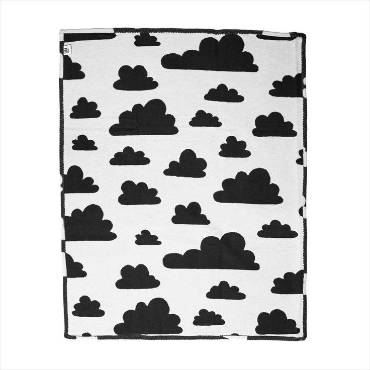 Blanket . Baby - Clouds Black