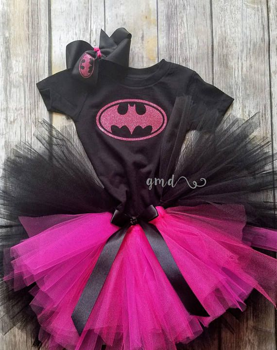 Batman or Batgirl Tutu Set Costume, Batman or Batgirl Tutu Set Costume in Yellow, batgirl costume, batman costume, batman birthday, batgirl birthday, toddler girl costume, baby girl costume, halloween costume, girl halloween costume, batman tutu, batgirl tutu