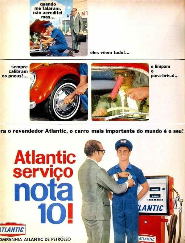 Propaganda da Atlantic para promover a qualidade de seus serviços em 1968.