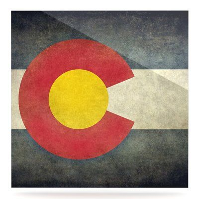 """East Urban Home 'State Flag of Colorado' Graphic Art Print on Metal Size: 10"""" H x 10"""" W x 1"""" D"""