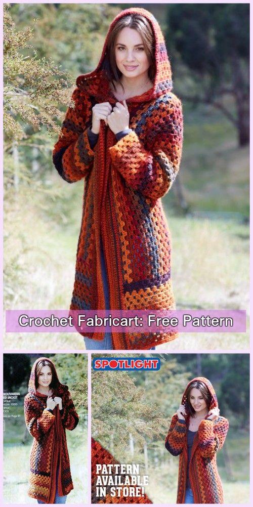 Crochet Granny Bouvardia Hooded Jacket Free Pattern