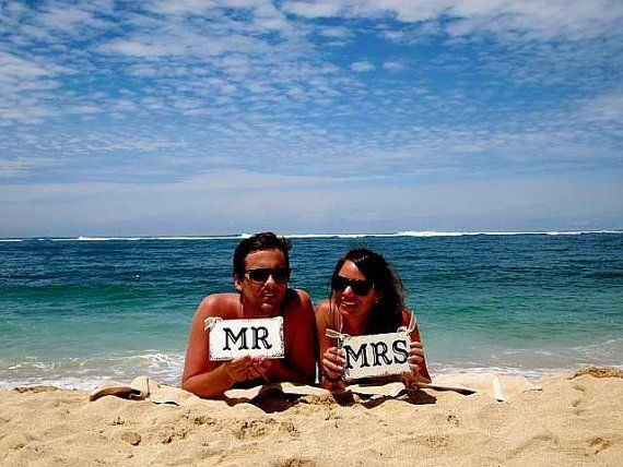 Send a card out from the honeymoon :)