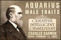 Charles Darwin as a famous Aquarian male