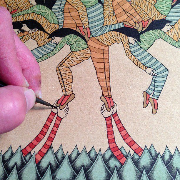 Artist Mel Kadel and her tiny brush are able to create some of our favorite intricately detailed and narrative works.