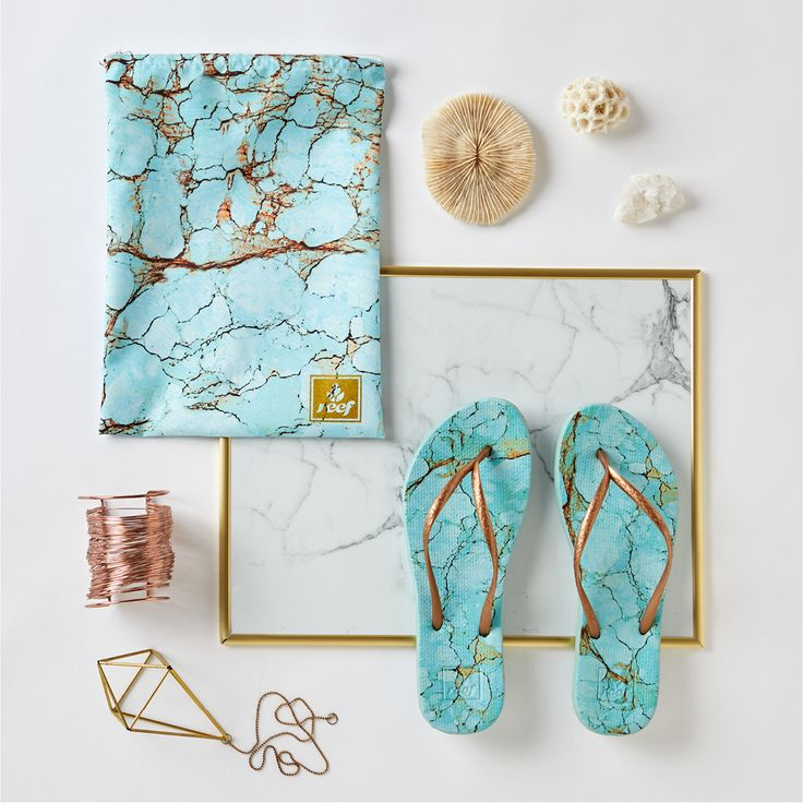 Reef Escape marble collection - in Turquoise