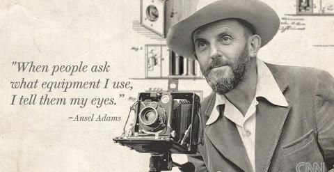 """""""When people ask what equipment I use, I tell them my eyes."""" ❥ Ansel Adams #quote #photography"""