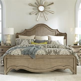 Corinne Curved Panel Bed I Riverside Furniture