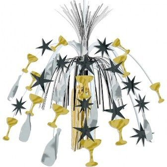 Gold & Silver Star Hollywood Hanging Cascade Decoration
