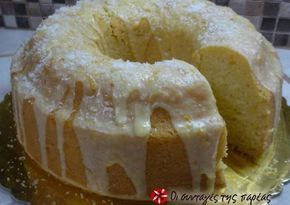 Νηστίσιμο κέικ με γκαζόζα και ινδοκάρυδο