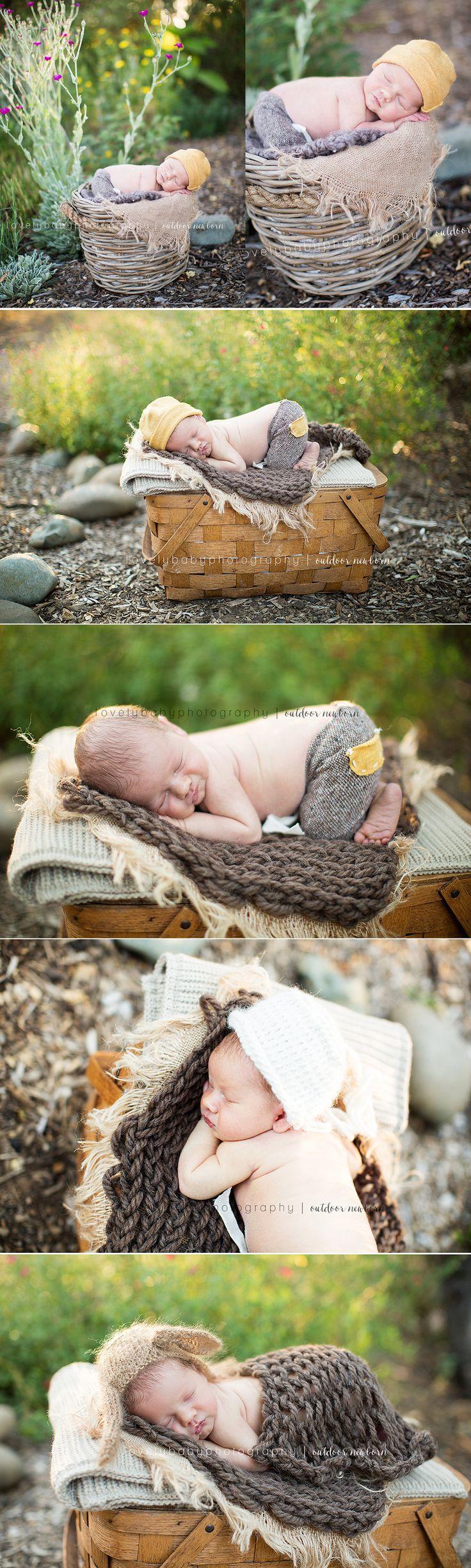 Outdoor Newborn Boy Session - Lovely Baby Photography Sacramento