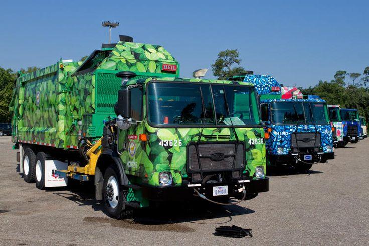 Houston Garbage Trucks promote recycling!