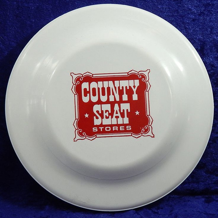 County Seat Stores Vintage Advertising Humphrey Flyer No  6 Frisbee Flying Disc #HumphreyFlyer