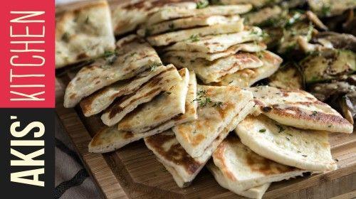 Greek Pita Bread | Akis Kitchen