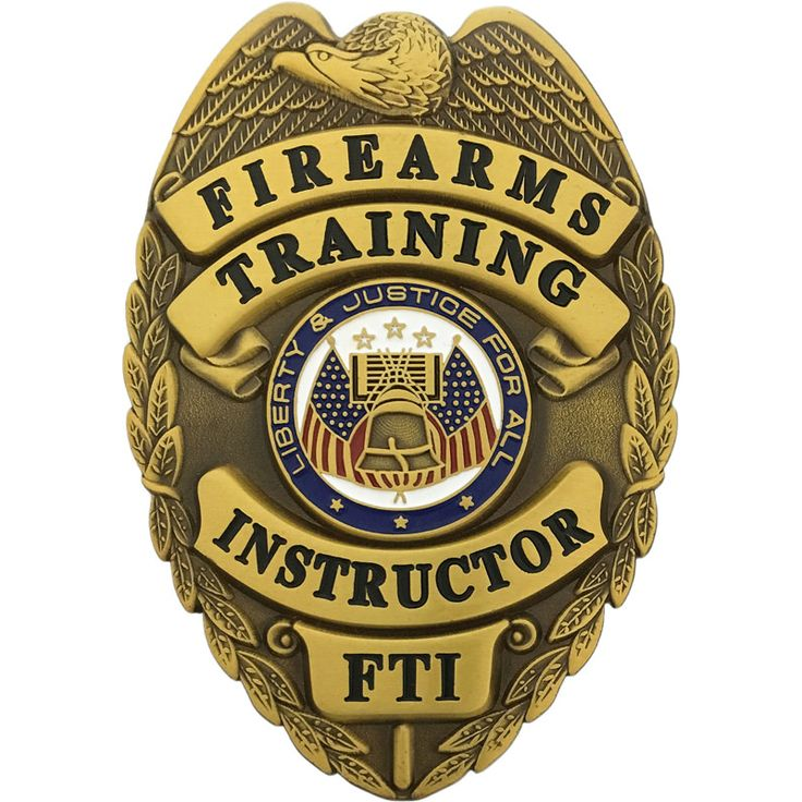 Firearms training instructor badge agent gear usa