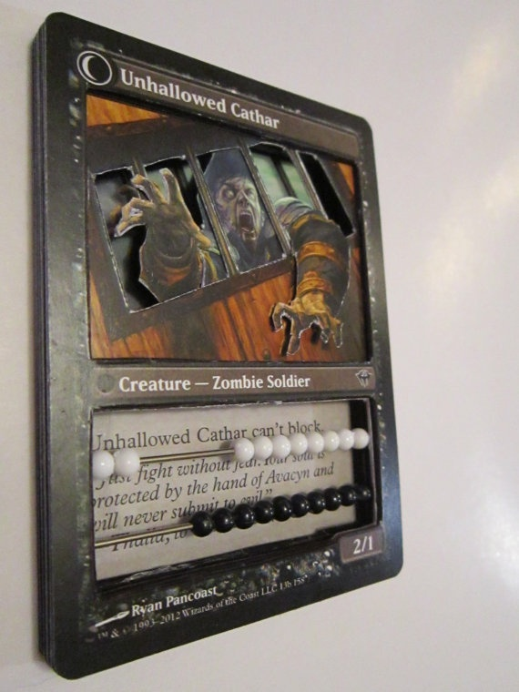 3D Magic the Gathering Life Counter by BGCardMods