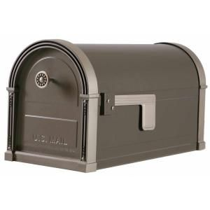 Gibraltar Mailboxes, High Grove Post Mount Mailbox in Light Bronze, HM16NL01 at The Home Depot - Mobile