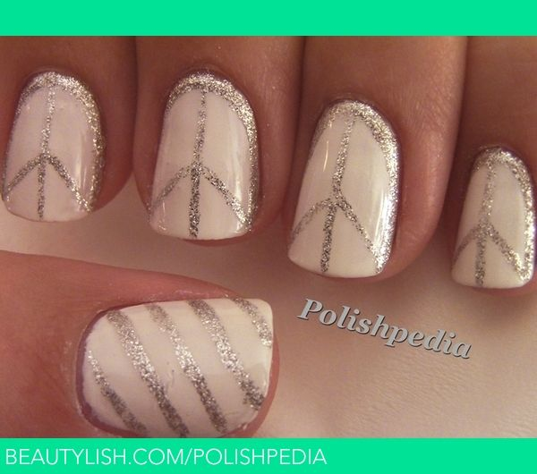 Peace Sign Nail Art |.....maybe just one nail with the peace sign