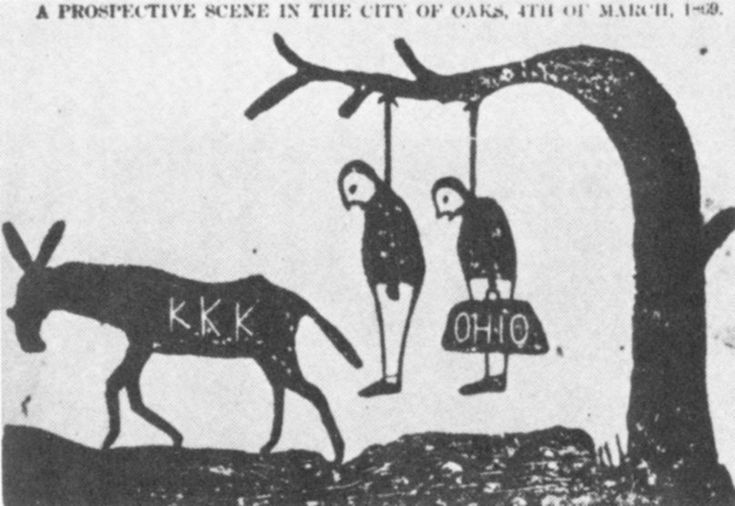 Source: Political Cartoon Date of Origin: 1920 This political cartoon explains how the Ku Klux Klan went about Canada killing people from different places because of prejudice. This proves a lot why the 1920s did not roar. They killed people like the Jews in Quebec, French Canadians in Saskatchewan, Asians in British Columbia and different foreigners in other places. There were a lot of them around, but they were most successful in the west side.