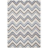 Found it at AllModern - Cambridge Ivory / Blue Chevron Area Rug