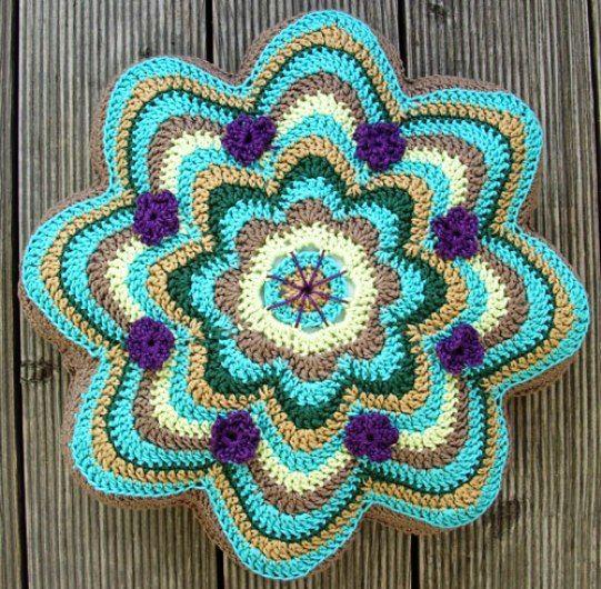 Crochet Pillow - Chart ❥ 4U // hf