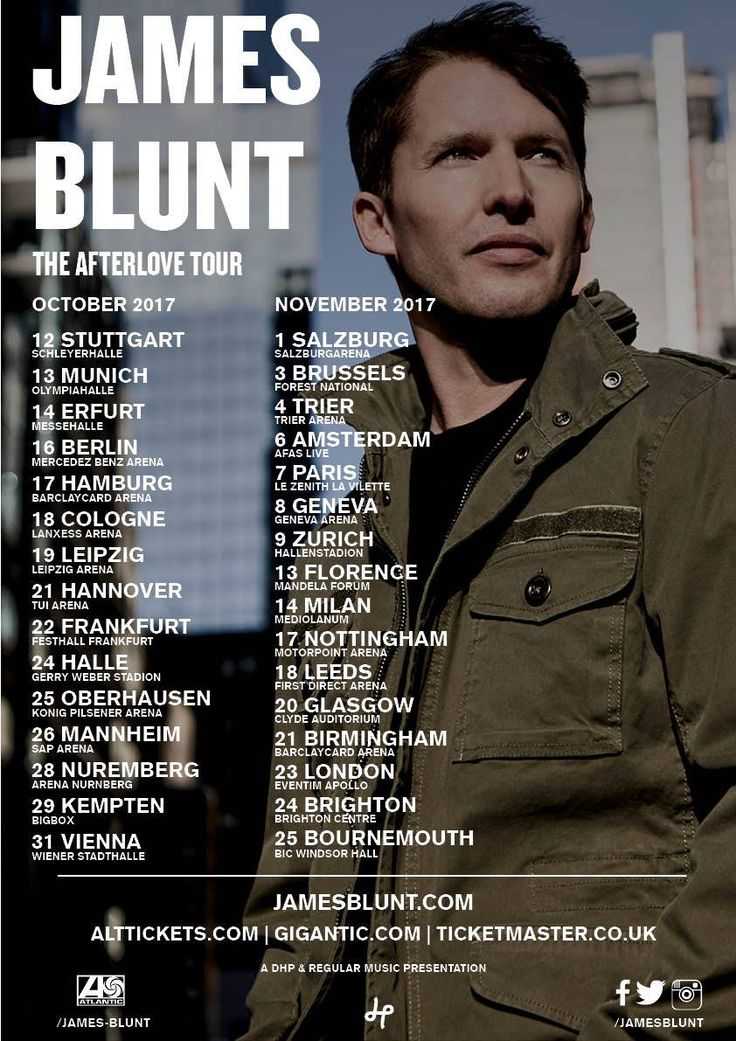 Image result for james blunt tour 2017 uk