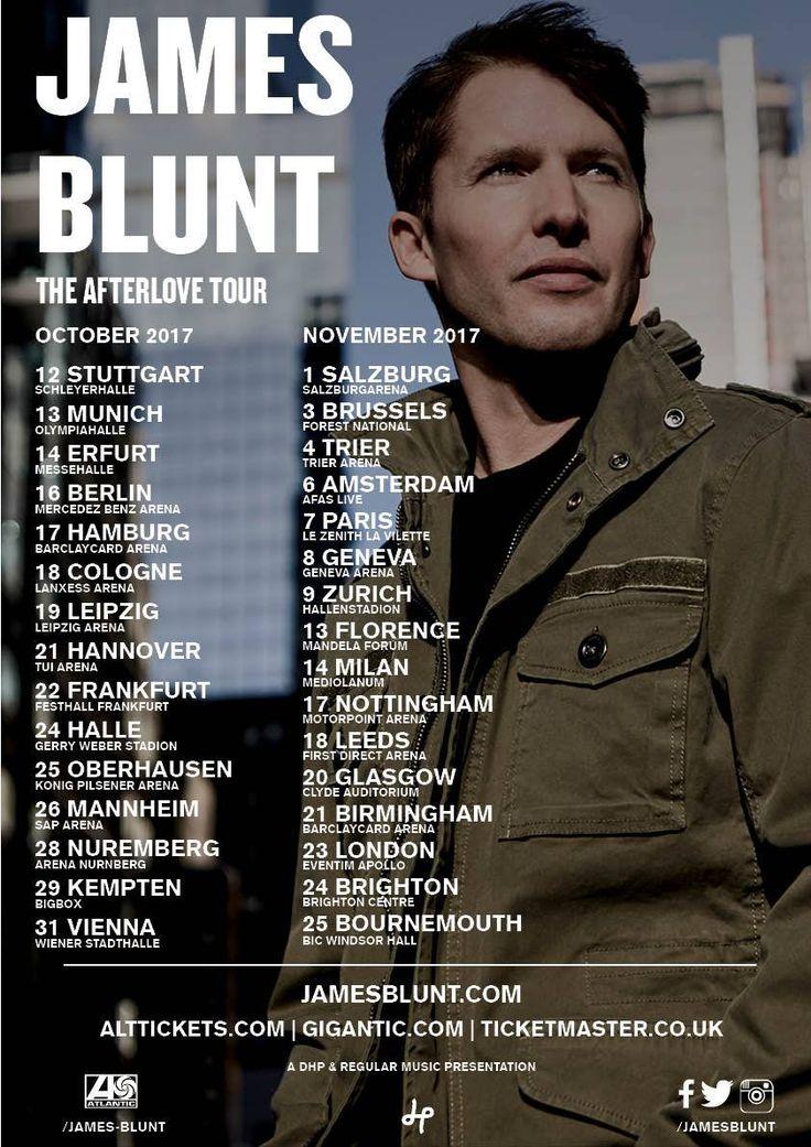 James Blunt 'The Afterlove' European & UK Tour 2017