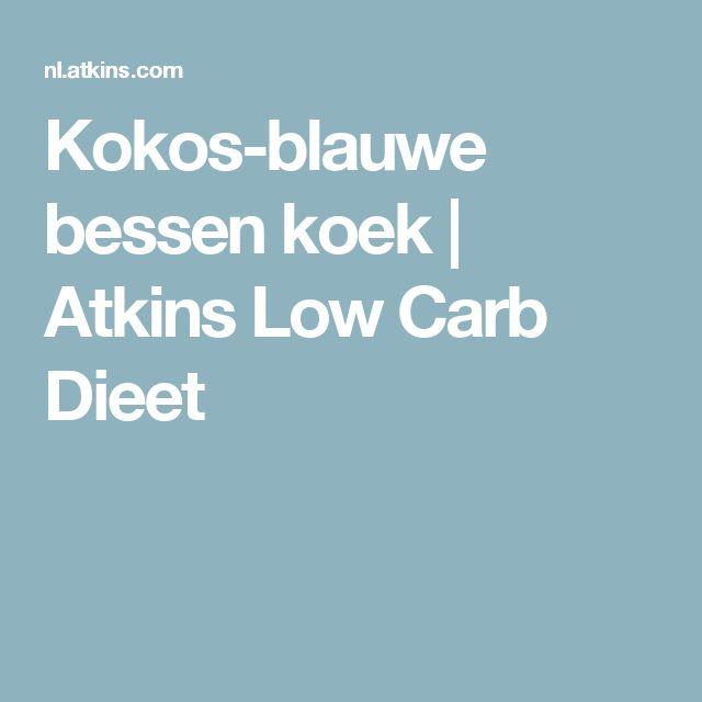 Kokos-blauwe bessen koek | Atkins Low Carb Dieet